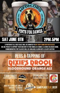 Join us June 8th 2019 for Pints for Dawgs