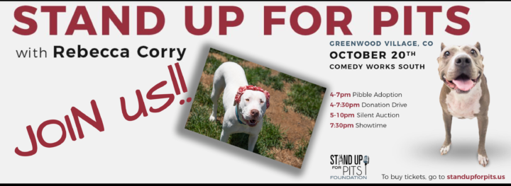 EVENT: Stand Up For Pits! October 20, 2019